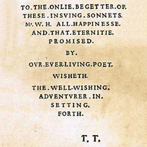 Dedication sonnets