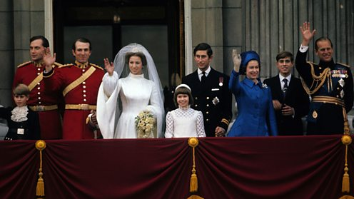 Princess Anne and Captain Mark Phillips on the Buckingham Palace balcony (Getty Images)