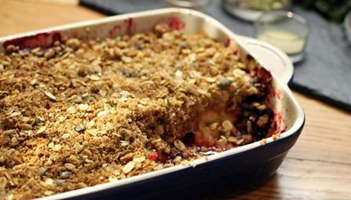 ... twist to a traditional apple and blackberry crumble and his savoury