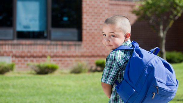 Boy with rucksack image