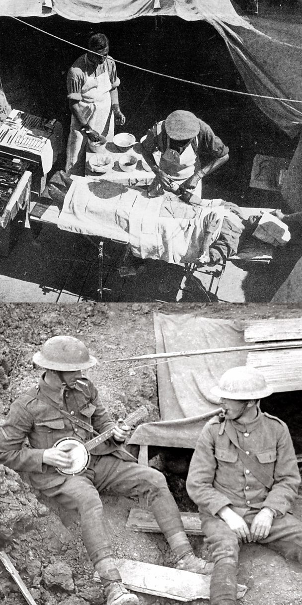 Dressing stations and a trench rota helped aid a soldier's survival