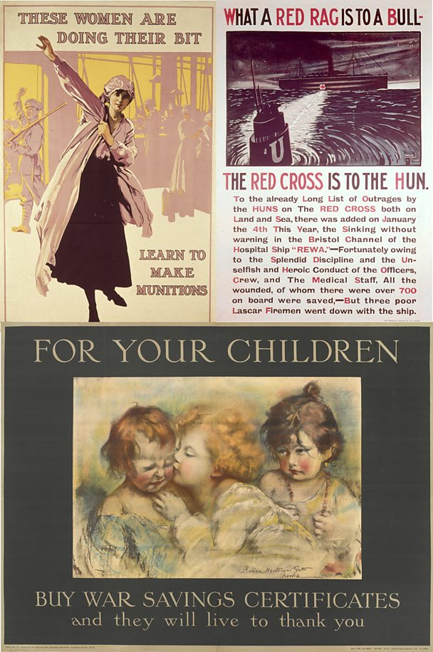 World War One propaganda posters