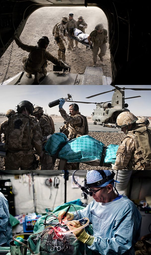 The MERT and a surgeon in Afghanistan treat the wounded