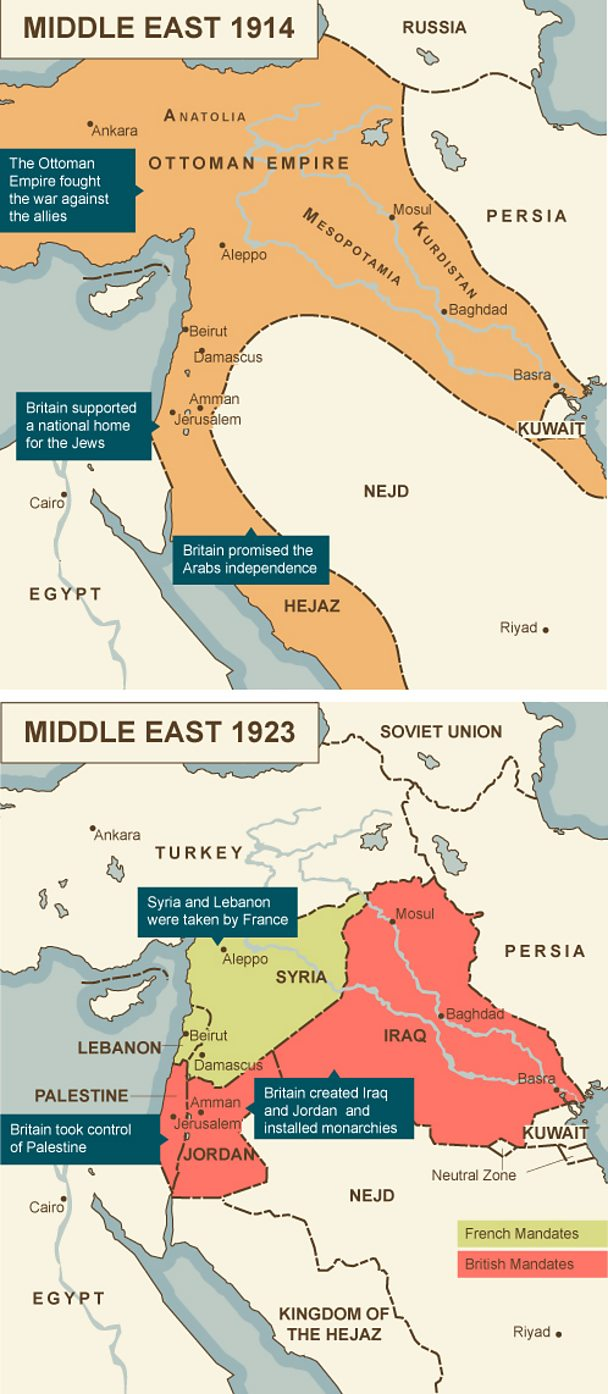 Middle East Map Before Ww2.Bbc Iwonder Does The Peace That Ended Ww1 Haunt Us Today