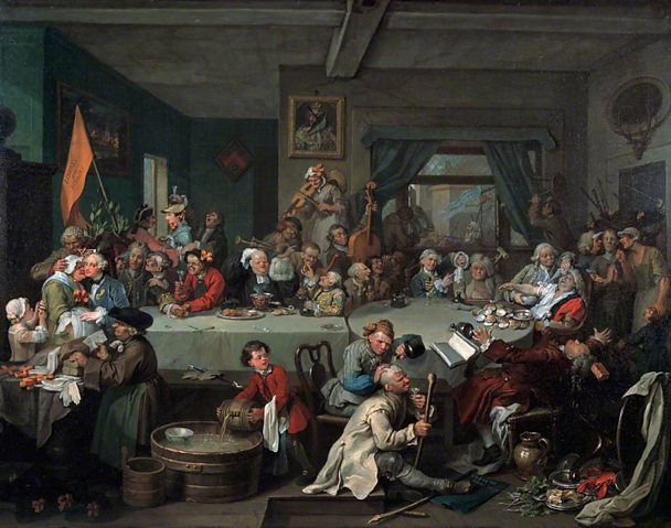 William Hogarth - An Election: 1. The Entertainment