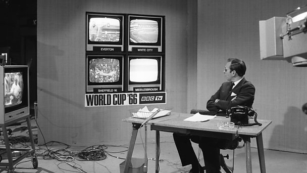 World Cup report anchor David Coleman takes in four live games at once in the studio.