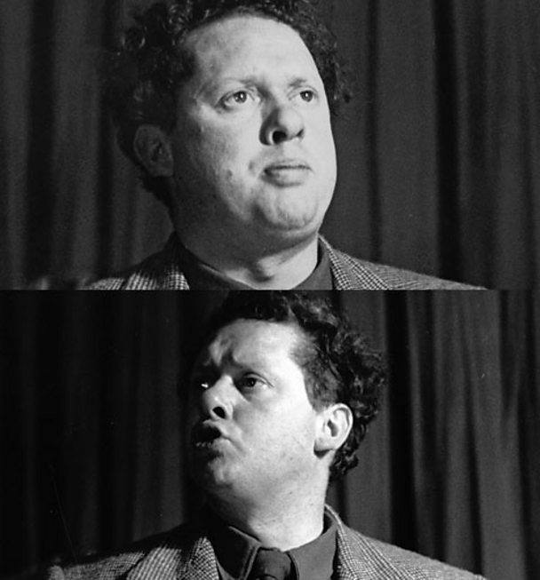Dylan Thomas pictured in 1950