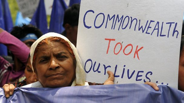 Indian activists protest at the Commonwealth Games