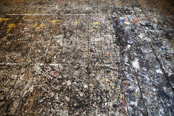 Jackson Pollock's floor in his studio