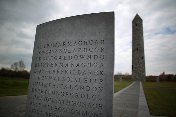 Island of Ireland Peace Tower Belgium