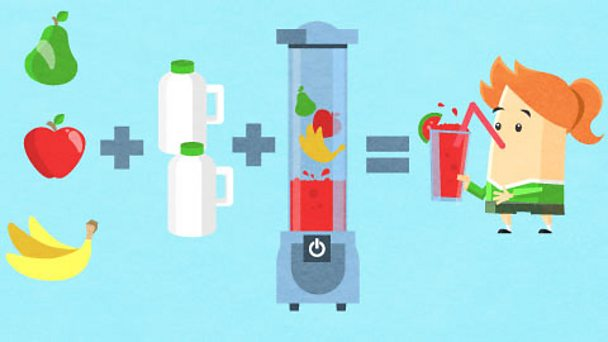 The equation for making a smoothie
