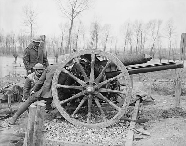 Light artillery was used to destroy targets such as barbed wire.