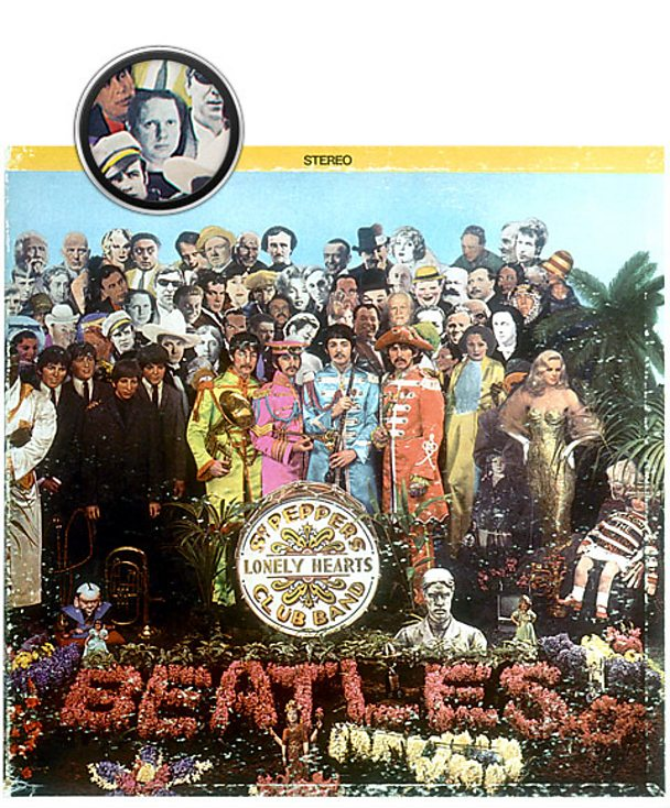 Cover artwork for The Beatles' album Sgt Pepper's Lonely Hearts Club Band