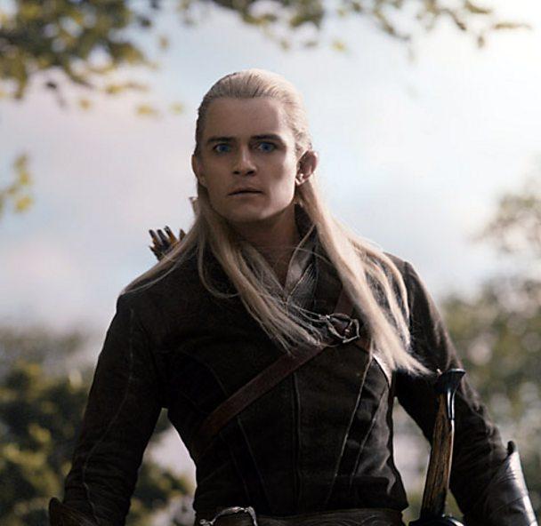 Orlando Bloom as Legolas in The Hobbit: The Desolation Of Smaug