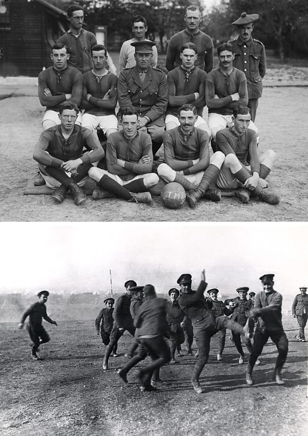 football in training world war one