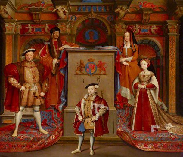 Henry VII, Queen Elizabeth, Henry VIII, Queen Jane Seymour and Edward VI