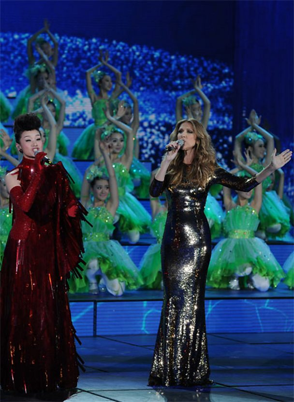 Chinese singer Song Zuying and Celine Dion 2013