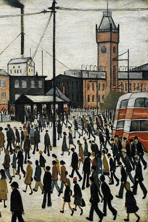 Going to Work by LS Lowry. IWM/Getty Images