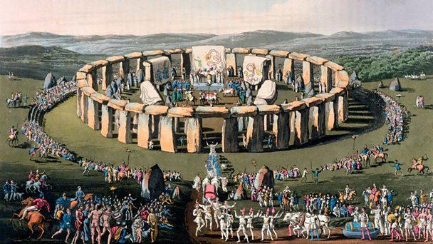 Illustration of Stonehenge celebration