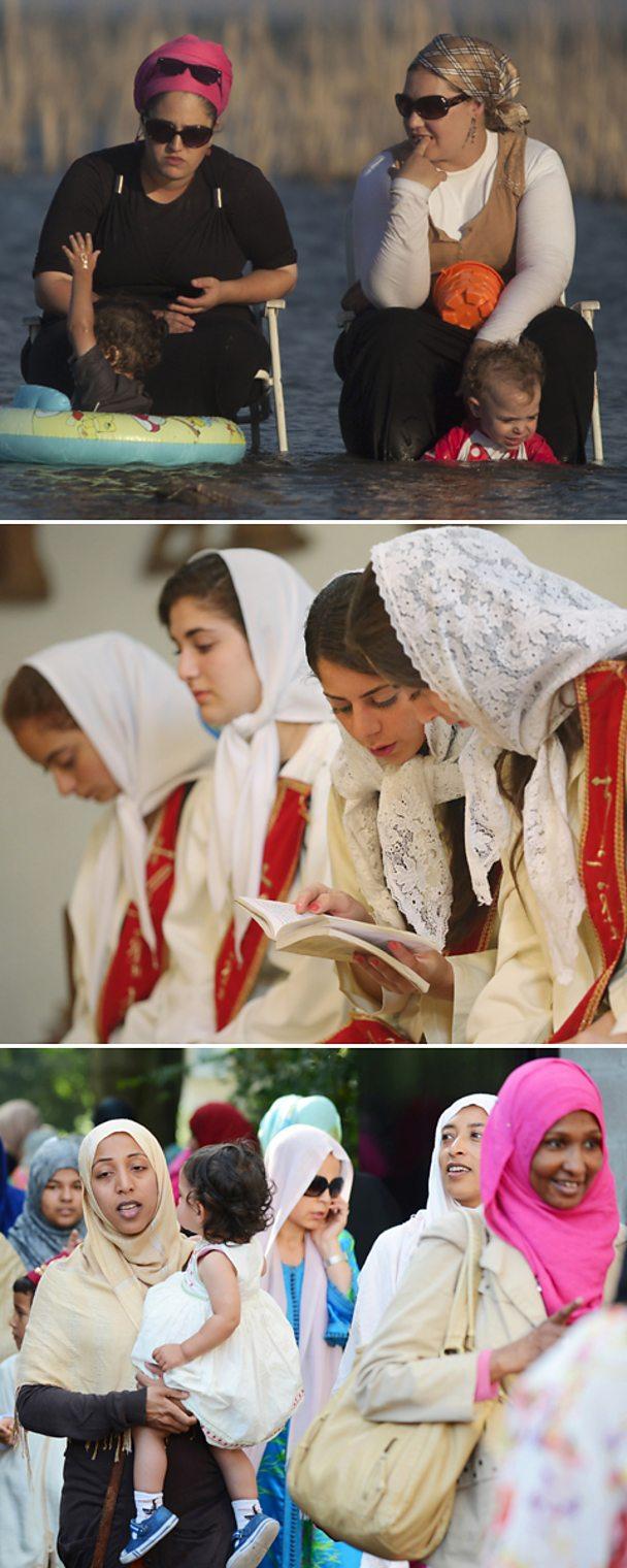 Hasidic Jewish women, Orthodox Christian women, Muslim women, Getty
