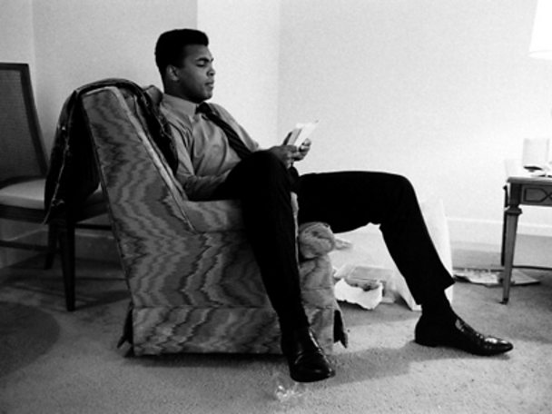 Muhammad Ali in exile from the ring in 1968