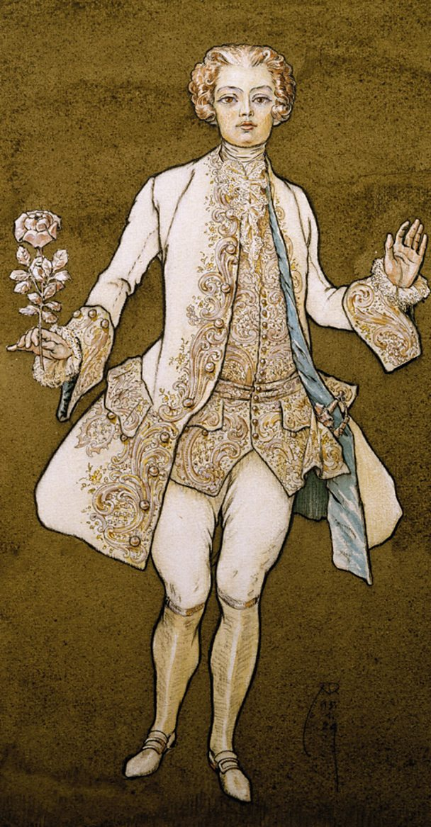The character Octavian, from Strauss's opera Der Rosenkavalier.