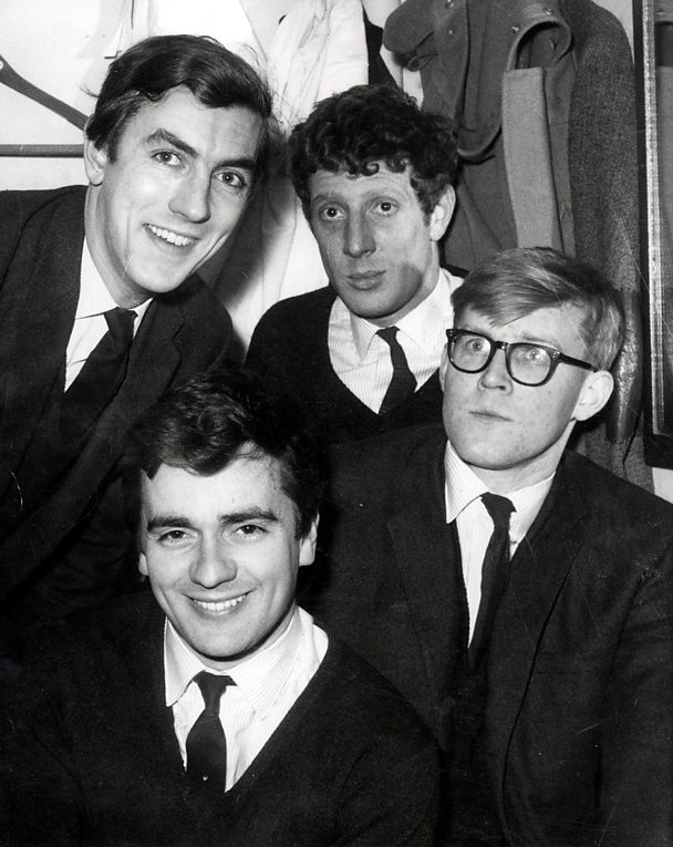 Peter Cook, Dudley Moore, Alan Bennett and Jonathan Miller in Beyond the Fringe