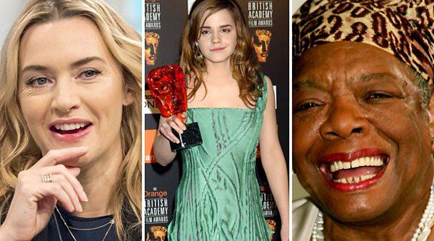 Composite image of Kate Winslet, Maya Angelou and Emma Watson