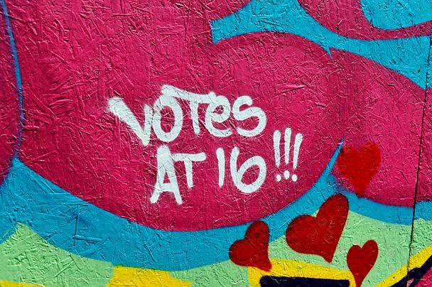 Votes at 16 grafitti