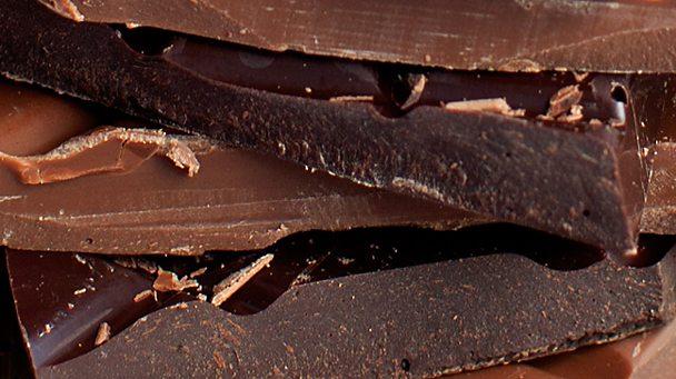 layers of dark and milk chocolate