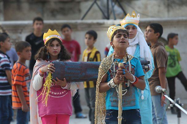 Zaatari refugee camp performance of King Lear