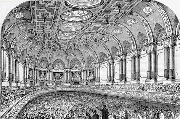 Manchester Free Trade Hall, 1865 - Manchester Library