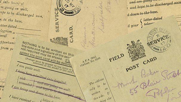 Field postcards montage
