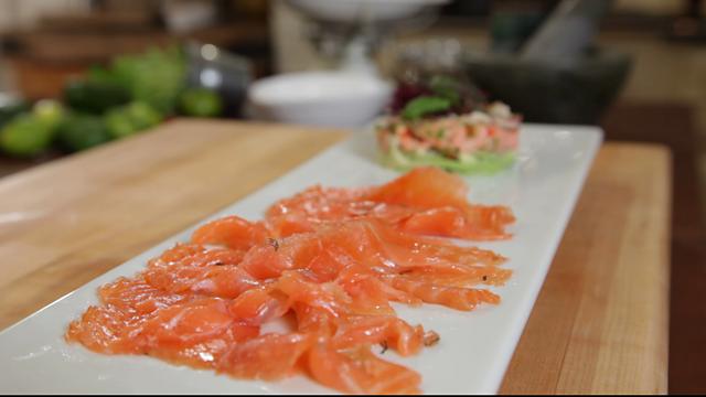 Salmon gravlax with gin recipe bbc food salmon gravlax with gin forumfinder Images
