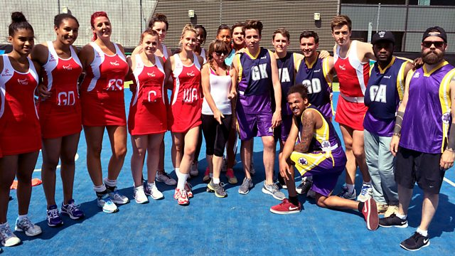 The Radio 1 team try out netball.