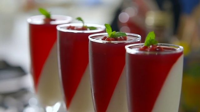 ... , Tony Sartori, Vanilla and yogurt panna cotta with pomegranate jelly