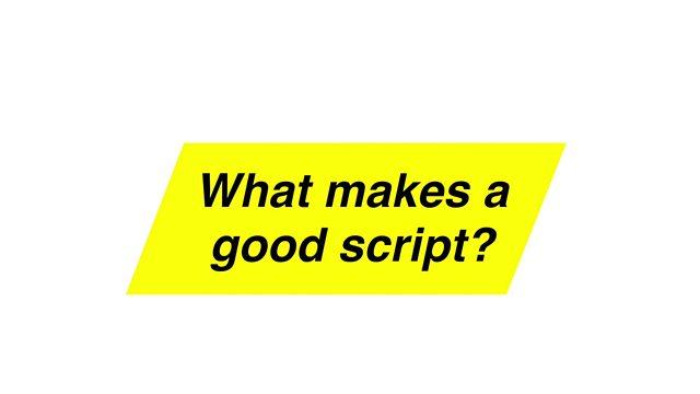 bbc script writing advice cassandra