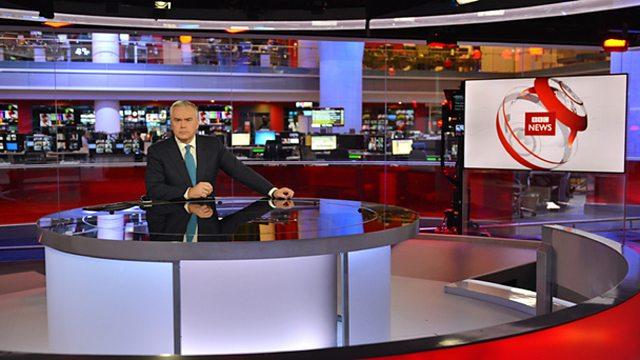 Screenshot of a typical news programme