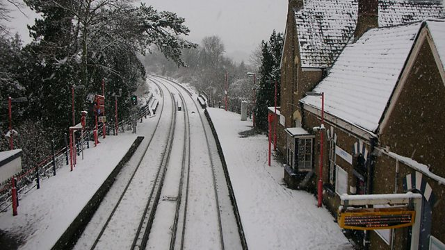 Eynsford station in the snow