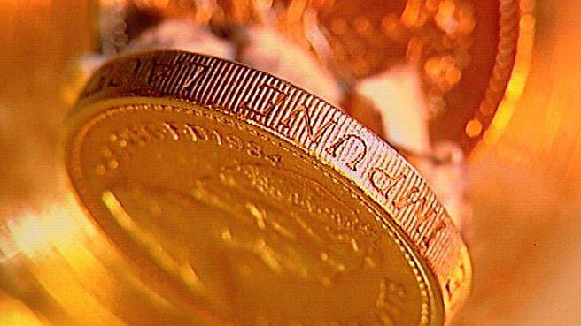 A pound coin