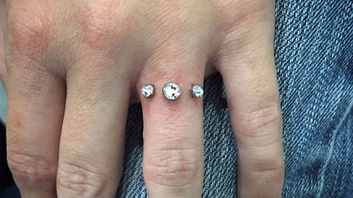 People Are Getting Finger Piercings Instead Of Engagement. Mother Rings. 3 Stone Wedding Rings. Change Rings. Precious Engagement Rings. Transparent Engagement Rings. Rope Twist Engagement Rings. Sets Engagement Rings. Celebrity Designer Engagement Rings