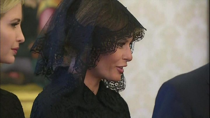 Melania Trump In Black At The Vatican Why Bbc News