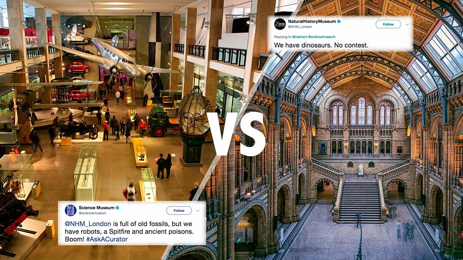 NH museum and Science museum vs each other