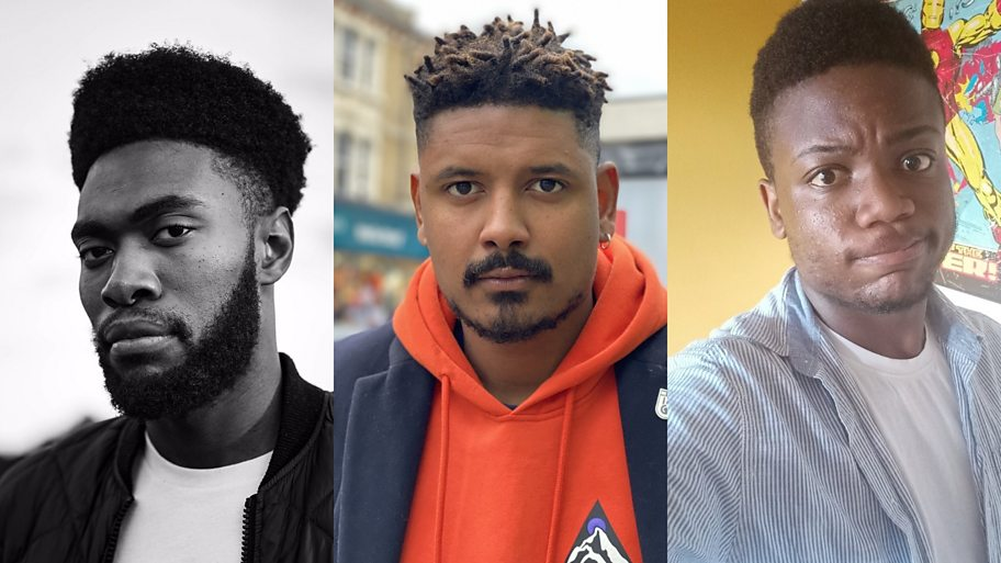 Three black men look at the camera