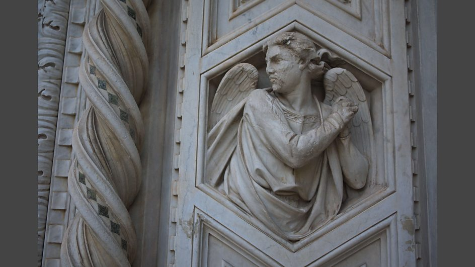 Feature near the main door of Florence Cathedral, the Basilica di Santa Maria del Fiore