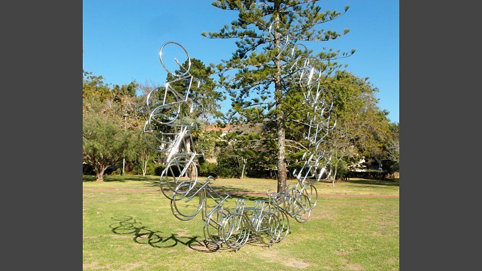 Grahamstown South Africa  City new picture : Bicycle sculpture in Grahamstown , South Africa: photo by BBC