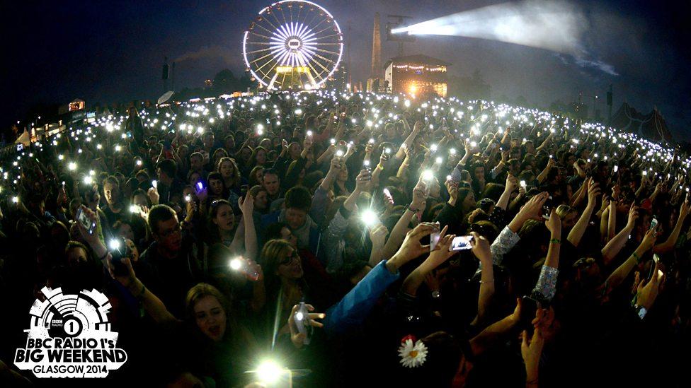 The crowd watching Katy Perry at Radio 1's Big Weekend 2014