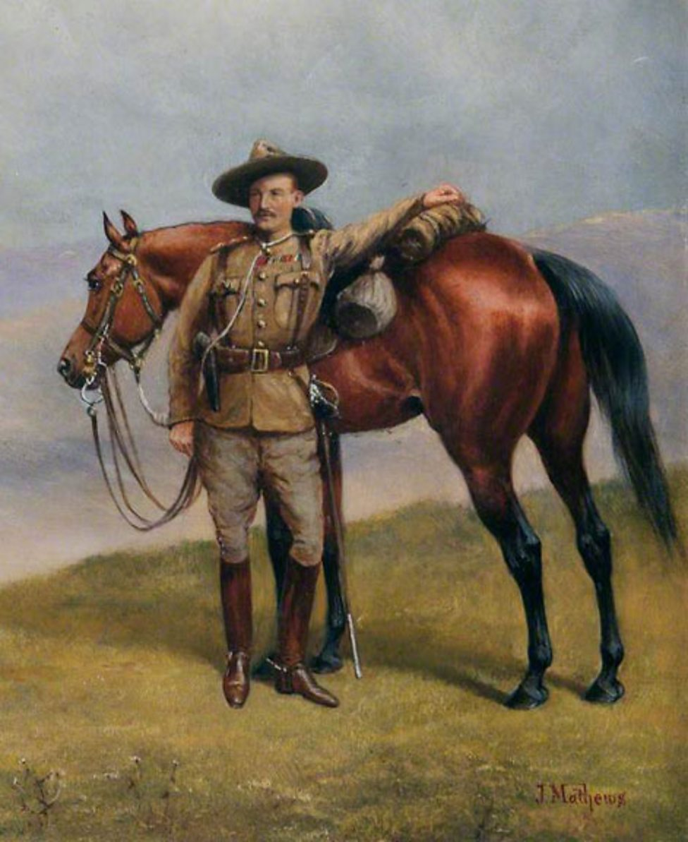 Baden-Powell in Uniform of the South African Constabulary by John Edward Chapman Mathews