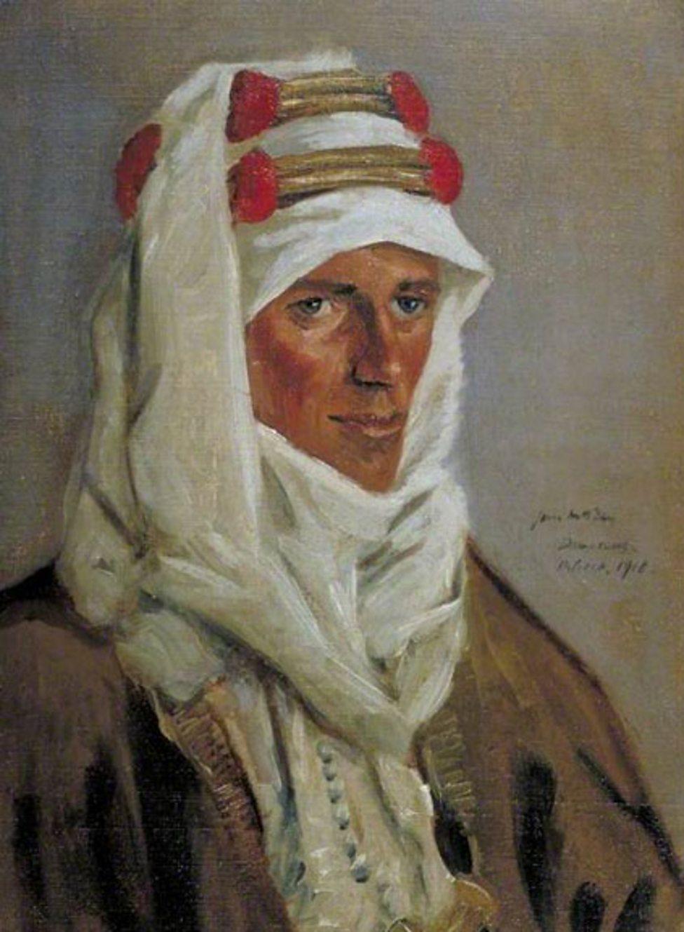 Lieutenant Colonel T. E. Lawrence (1888–1935), CB, DSO by James McBey