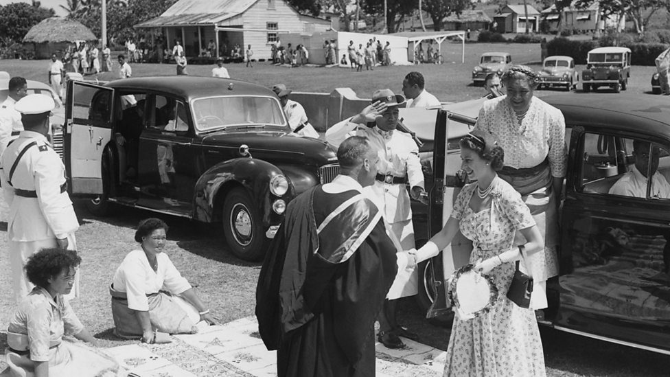 The Queen visits Tonga in 1953 on her first Commonwealth tour as Monarch